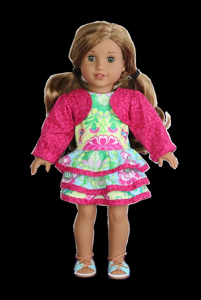 Rüschenkleid, Bolero & Schuhe für 46 cm Puppen (\'Amelie\', American ...