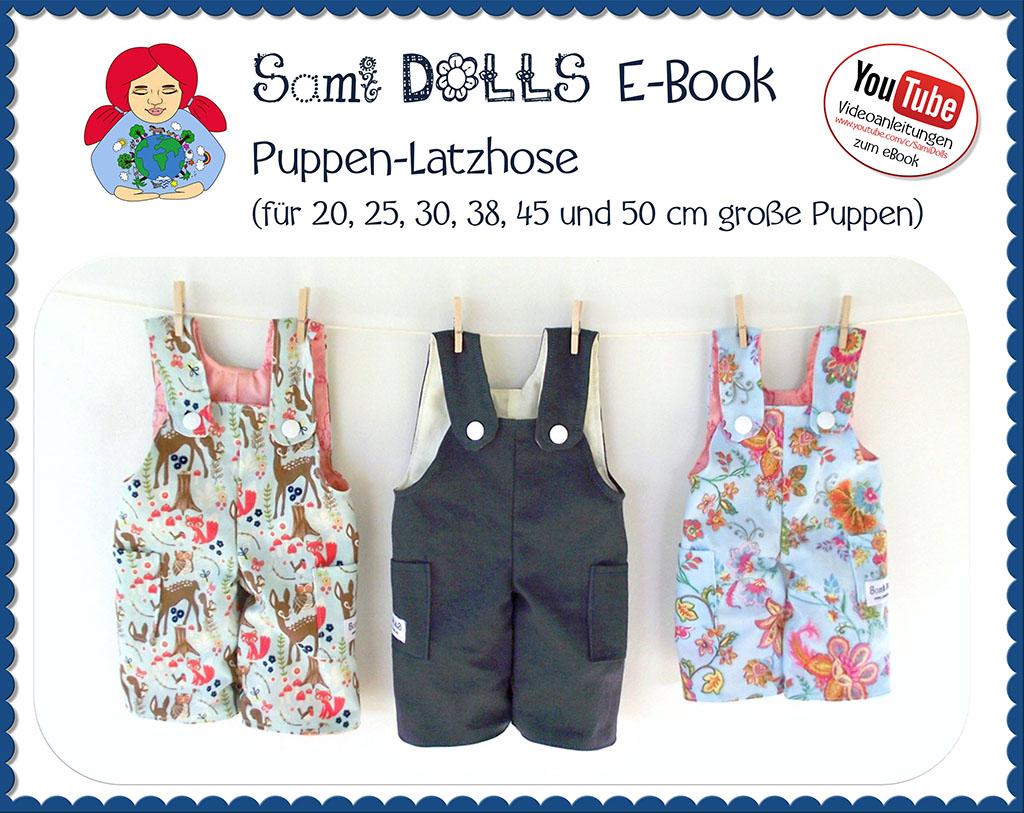 Puppen-Latzhose (in 6 Größen)