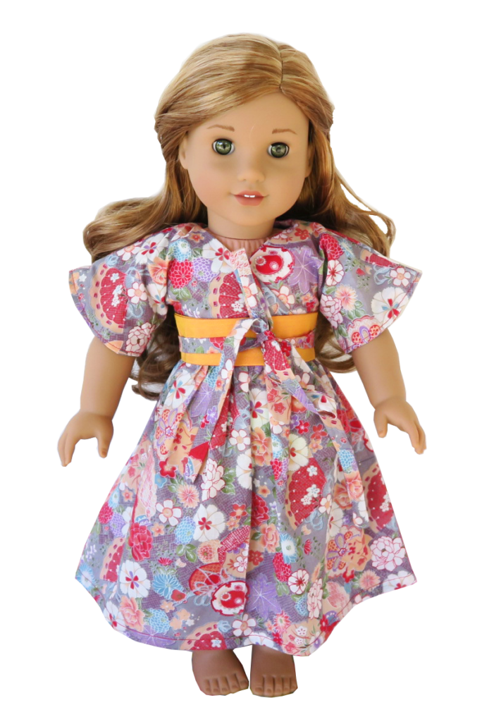 Kimono Kleid für 46 cm Puppen (\'Amelie\', American Girl, Our ...