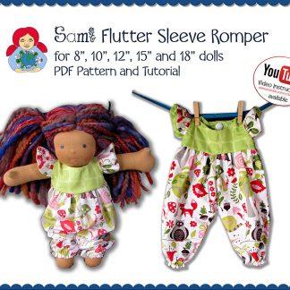 Flutter Sleeve Romper (in 5 doll sizes)
