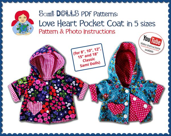 loveheart pocket coat