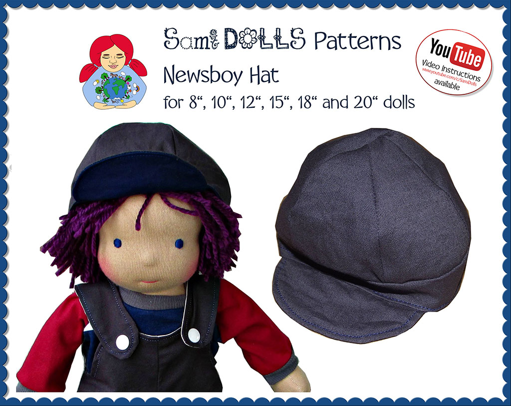 Newsboy Hat (in 6 doll sizes)