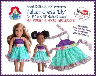 Halter dress Lily for WW and AG